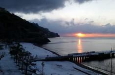 Costa d'Amalfi nevicata